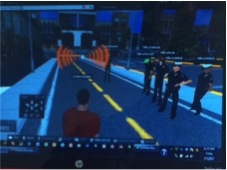 active shooter training in Second Life